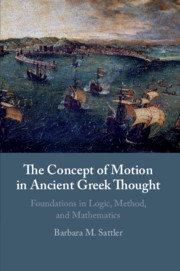 The Concept of Motion in Ancient Greek Thought