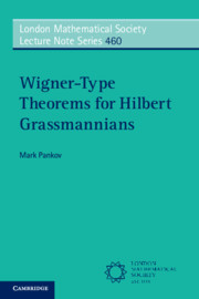 Wigner-Type Theorems for Hilbert Grassmannians