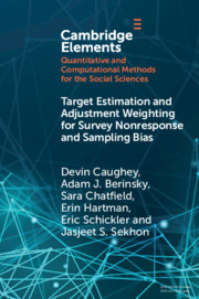 Target Estimation and Adjustment Weighting for Survey Nonresponse and Sampling Bias
