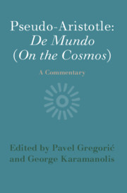 Pseudo-Aristotle: De Mundo (On the Cosmos)