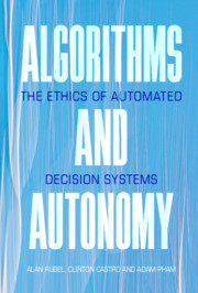 Algorithms and Autonomy