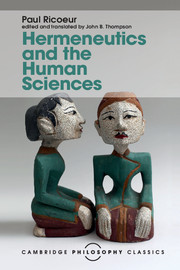 Hermeneutics and the Human Sciences. Essays on Language, Action and Interpretation Book Cover
