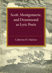 Alexander Scott, Montgomerie, and Drummond of Hawthornden as Lyric Poets