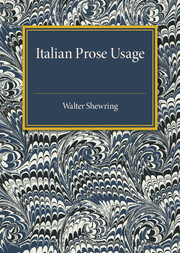 Italian Prose Usage