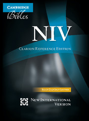 NIV Clarion Reference Bible, Black Calf Split Leather, NI484:X