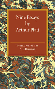 Nine Essays by Arthur Platt