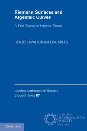Riemann Surfaces and Algebraic Curves