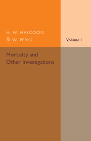 Mortality and Other Investigations