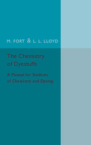 The Chemistry of Dyestuffs