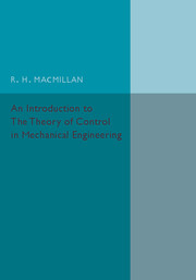 An Introduction to the Theory of Control in Mechanical Engineering