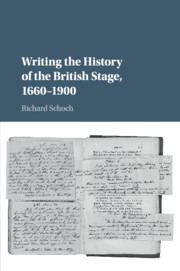 Writing the History of the British Stage