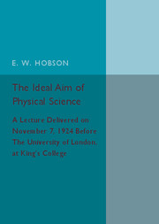 The Ideal Aim of Physical Science