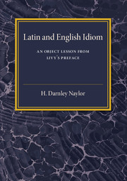 Latin and English Idiom