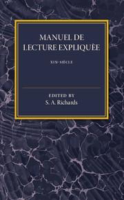 Manuel De Lecture Expliquée XIX Siécle