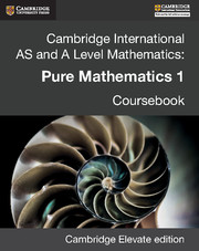 Cambridge International AS and A Level Mathematics: Pure Mathematics 1 Revised Edition Cambridge Elevate edition (2 Years)