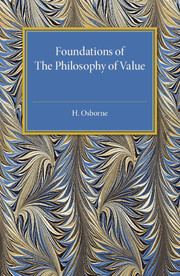 Foundations of the Philosophy of Value