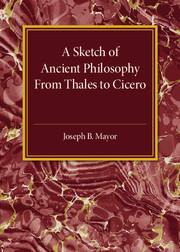 A Sketch of Ancient Philosophy