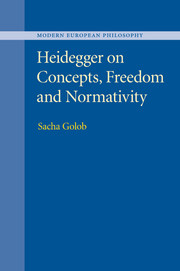Heidegger on Concepts, Freedom and Normativity Couverture du livre