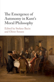 The Emergence of Autonomy in Kant's Moral Philosophy