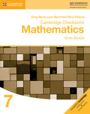 Cambridge Checkpoint Mathematics Skills Builder Workbook 7