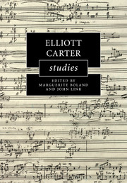 Elliott Carter Studies