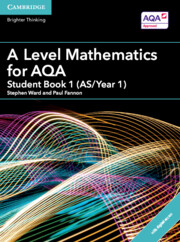 A Level Mathematics for AQA Student Book 1 (AS/Year 1) with Cambridge Elevate Edition (2 Years)