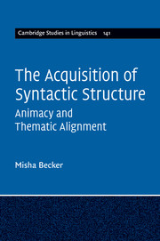 The Acquisition of Syntactic Structure