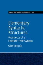 Elementary Syntactic Structures