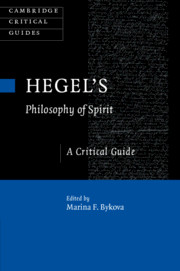 Hegel's <I>Philosophy of Spirit</I>