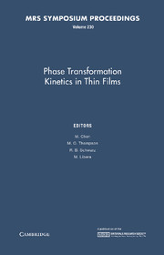 Phase Transformation Kinetics in Thin Films