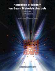 Handbook of Modern Ion Beam Materials Analysis