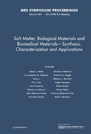 Soft Matter, Biological Materials and Biomedical Materials — Synthesis, Characterization and Applications