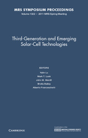 Third-Generation and Emerging Solar-Cell Technologies