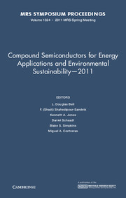 Compound Semiconductors for Energy Applications and Environmental Sustainability — 2011