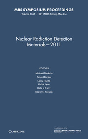 Nuclear Radiation Detection Materials - 2011