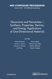Nanowires and Nanotubes - Synthesis, Properties, Devices, and Energy Applications of One-Dimensional Materials
