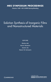 Solution Synthesis of Inorganic Films and Nanostructured Materials