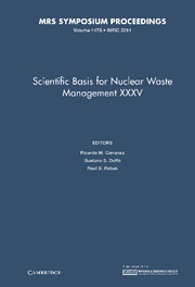 Scientific Basis for Nuclear Waste Management XXXV