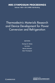 Thermoelectric Materials Research and Device Development for Power Conversion and Refrigeration