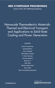 Nanoscale Thermoelectric Materials: Thermal and Electrical Transport, and Applications to Solid-State Cooling and Power Generation