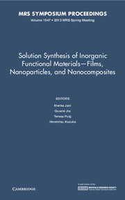 Solution Synthesis of Inorganic Functional Materials - Films, Nanoparticles, and Nanocomposites