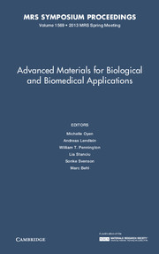 Advanced Materials for Biological and Biomedical Applications