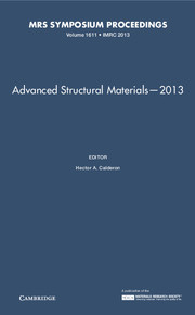 Advanced Structural Materials—2013