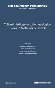Cultural Heritage and Archaeological Issues in Materials Science II