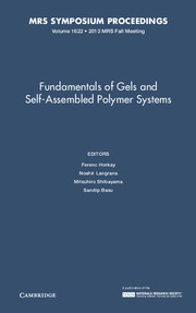 Fundamentals of Gels and Self-Assembled Polymer Systems