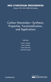 Carbon Nanotubes - Synthesis, Properties, Functionalization, and Applications