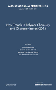 New Trends in Polymer Chemistry and Characterization - 2014