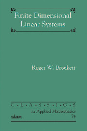 Finite Dimensional Linear Systems