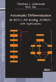Automatic Differentiation in MATLAB using ADMAT with Applications