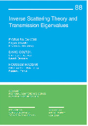 Inverse Scattering Theory and Transmission Eigenvalues